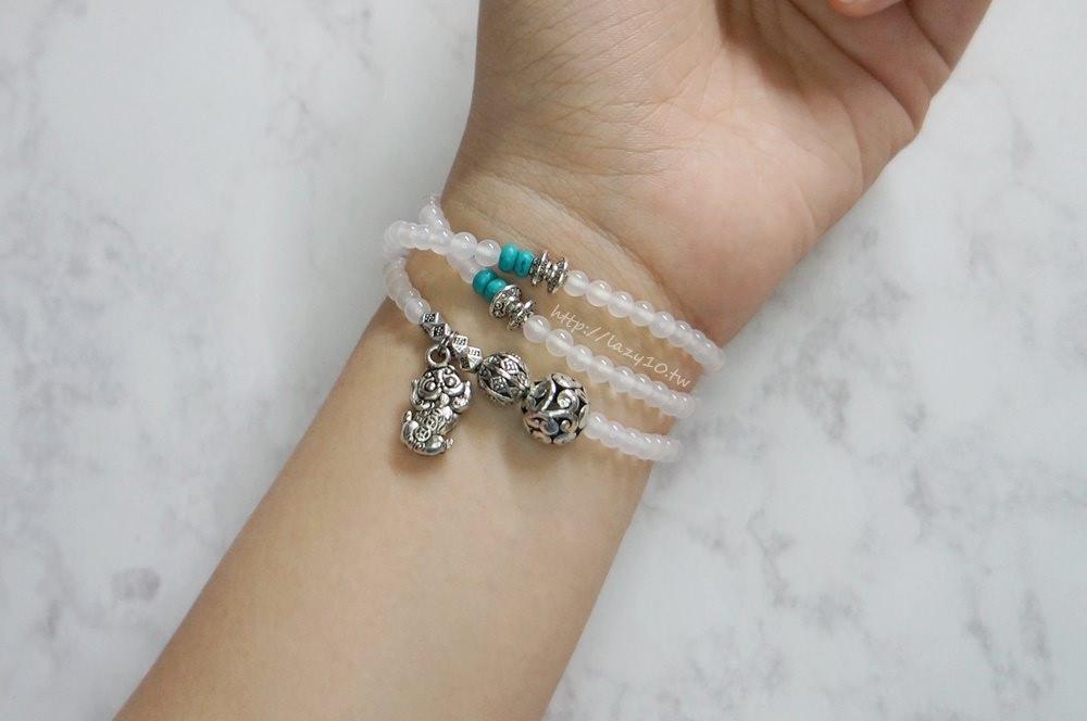 開運招財●財神小舖108珠白瑪瑙貔貅手鍊。兼具時尚的增添運勢好物~