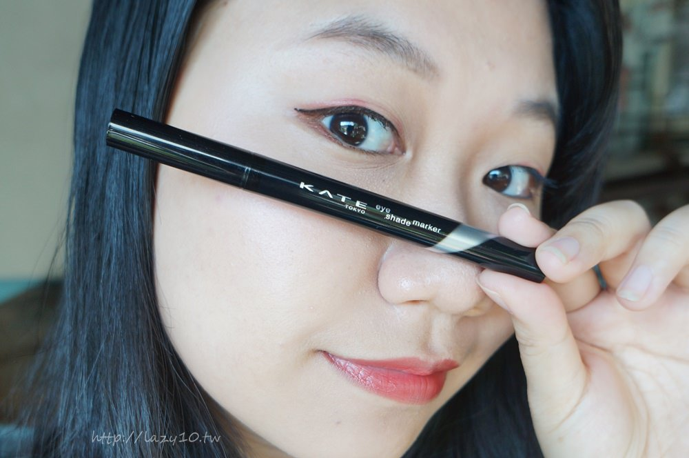 ●KATE凱婷-密影氣墊眼線筆BK-1、高顯色映象唇膏RD-2